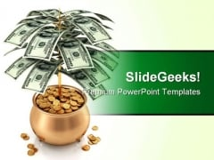 Money Tree Business PowerPoint Template 1110