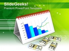Monthly Financial Growth Chart PowerPoint Templates Ppt Backgrounds For Slides 0713
