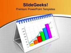 Monthly Progress Report On X Y Chart PowerPoint Templates Ppt Backgrounds For Slides 0313