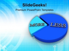 More And Less Parts Of Pie Chart PowerPoint Templates Ppt Backgrounds For Slides 0113