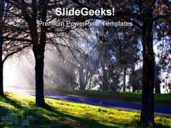 Morning Trees Nature PowerPoint Templates And PowerPoint Backgrounds 0211