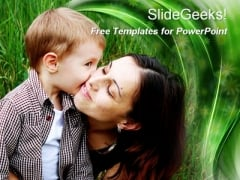 Cute Mother-Son Relation PowerPoint Template