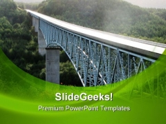 Mount St Helen Bridge Nature PowerPoint Templates And PowerPoint Backgrounds 0711