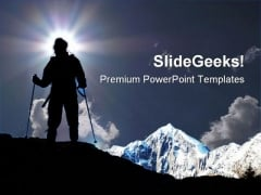 Mountain Climber Game PowerPoint Themes And PowerPoint Slides 0611