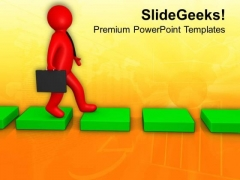 Move On The Success Path PowerPoint Templates Ppt Backgrounds For Slides 0713