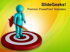Move Towards Achieving Target PowerPoint Templates Ppt Backgrounds For Slides 0713