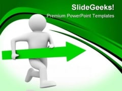 Movement Direction To Success Business PowerPoint Themes And PowerPoint Slides 0811