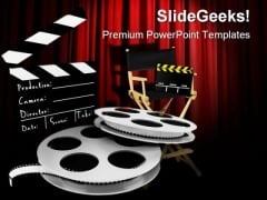 Movies Director Entertainment PowerPoint Themes And PowerPoint Slides 0311