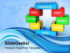 Multicolor Bricks Concepts Of Finance PowerPoint Templates Ppt Backgrounds For Slides 0713