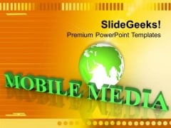 Multimedia Global Technology PowerPoint Templates Ppt Backgrounds For Slides 0413