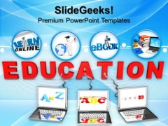 Multiple Wired To Education Children PowerPoint Templates And PowerPoint Themes 0912