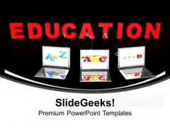 Multiple Wired To Education Children PowerPoint Templates Ppt Backgrounds For Slides 1212