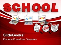 Multiple Wired To School Children PowerPoint Templates And PowerPoint Themes 0612