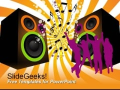 Music Dancing People PowerPoint Template