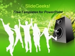 Music Entertainment People PPT Template