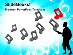 Music Notes Background Entertainment PowerPoint Templates And PowerPoint Backgrounds 0711