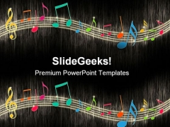 Music Notes Background Entertainment PowerPoint Themes And PowerPoint Slides 0411