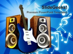 Music Symbol PowerPoint Backgrounds And Templates 0111