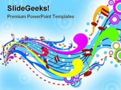 Music Wave Abstract PowerPoint Template 0910