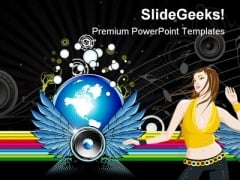 Music World Rainbow Entertainment PowerPoint Themes And PowerPoint Slides 0711