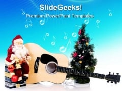 Musical Christmas Festival PowerPoint Themes And PowerPoint Slides 0311