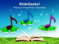 Musical Nodes PowerPoint Templates Ppt Backgrounds For Slides 0313
