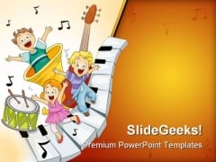 Musical Notes Entertainment PowerPoint Templates And PowerPoint Backgrounds 0411