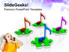 Musical Notes Entertainment PowerPoint Templates Ppt Backgrounds For Slides 0413