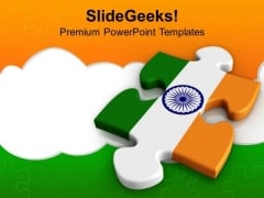 National Flag To Salute Indians Solution PowerPoint Templates Ppt Backgrounds For Slides 0313