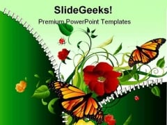 Nature Abstract Beauty PowerPoint Themes And PowerPoint Slides 0411