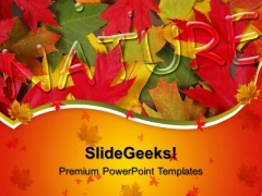 Nature With Autumn Leaves Background PowerPoint Templates And PowerPoint Themes 0512