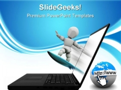Net Surfing Internet PowerPoint Themes And PowerPoint Slides 0811