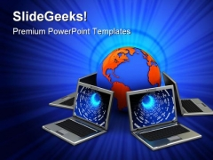 Network Computer PowerPoint Templates And PowerPoint Backgrounds 0311