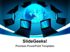 Network Concept Computer PowerPoint Themes And PowerPoint Slides 0411