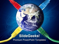 Network Connect Cables Internet PowerPoint Themes And PowerPoint Slides 0211