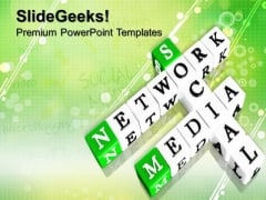 Network Media Communication PowerPoint Templates And PowerPoint Themes 0912