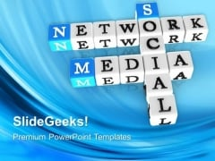 Network Media Crosswords Communication PowerPoint Templates And PowerPoint Themes 0712