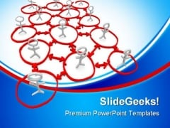 Network Of People Communication PowerPoint Themes And PowerPoint Slides 0811