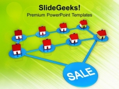 Network Of Real Estate Sale PowerPoint Templates Ppt Backgrounds For Slides 0113