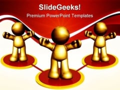Networking Icon Leadership PowerPoint Themes And PowerPoint Slides 0711