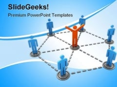 Networking Leadership PowerPoint Templates And PowerPoint Backgrounds 0411