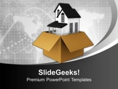New House For Gift Concept PowerPoint Templates And PowerPoint Themes 1112