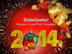 New Year 2014 Party Theme PowerPoint Template 1113