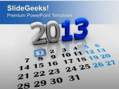 New Year Calendar Holidays PowerPoint Templates Ppt Backgrounds For Slides 0113