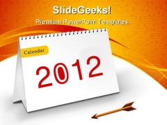 New Year Calendar Symbol PowerPoint Templates And PowerPoint Backgrounds 1011