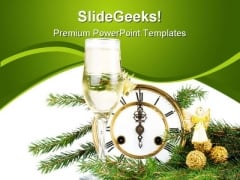 New Year Decoration Festival PowerPoint Templates And PowerPoint Backgrounds 0711