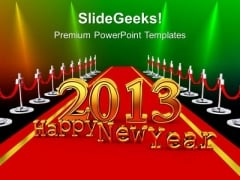 New Year On A Red Carpet PowerPoint Templates Ppt Backgrounds For Slides 1212
