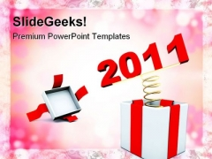 New Year Present Holidays PowerPoint Themes And PowerPoint Slides 0511