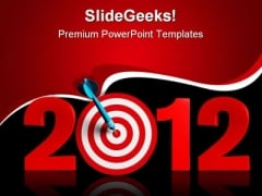 New Year Target Business PowerPoint Templates And PowerPoint Backgrounds 1011