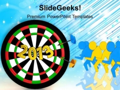 New Year Target Business PowerPoint Templates Ppt Backgrounds For Slides 1212